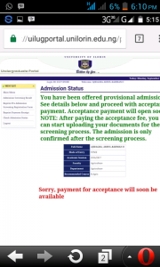 UNILORIN Admission List 2016/2017 Released