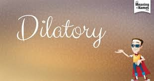 Definition: Tending To Delay Or Procrastinate; Slow; Tardy. Intended To  Cause Delay, Gain Time, Or Defer Decision: A Dilatory Strategy.