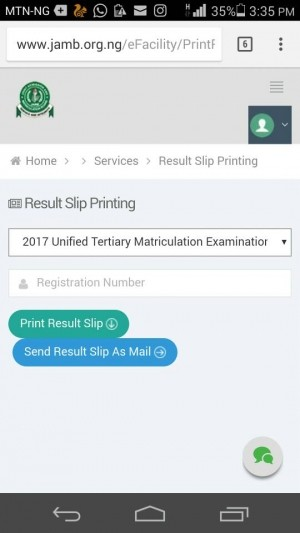 JAMB Original Result Slip Printing for 2017 Begins - See Procedures