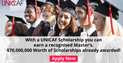 Apply for a UNICAF Scholarship and study for a UK Master's degree at an affordable cost. Change your life in 2018!