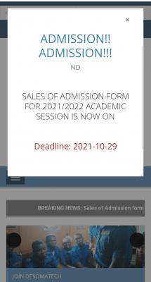 DESOMATECH extends post-UTME registration deadline for 2021/2022 session