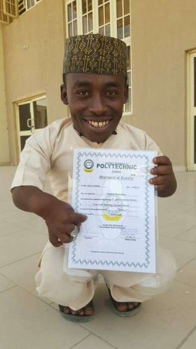 Meet Physically Challenged Deeneeya Who Just Graduated From Nuhu Bamalli Poly