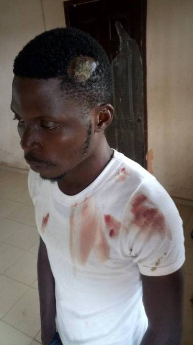 Disturbing Photo of a Corps Member Assaulted by a Soldier for Leaving the Parade Ground