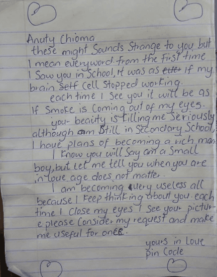 See The Love Letter a Sec. Sch. Student Wrote to His Teacher. Lol!