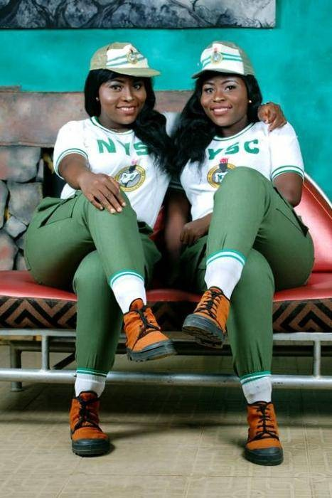 See How Lovely These Twins Look in Their NYSC Kit