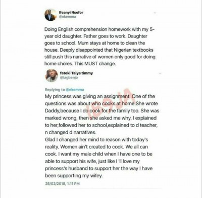 Man Frowns at Nigerian Text Books and Teachers That Impart Wrong Information on Pupil