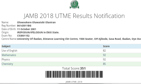 Share The Highest 2018 JAMB Score You Have Seen So Far