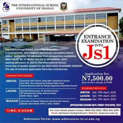 The International Secondary School University of Ibadan 2021/2022 Admission