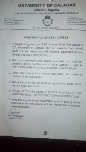 UNICAL Registration Of GSS Courses 2016/2017 Has Commenced - See ...