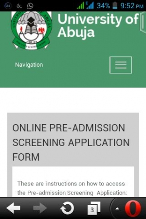 (Updated) UNIABUJA Pre-Admission Screening Registration 2016/2017 Announced