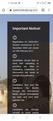 FUDutse extends post-UTME registration deadline for 2020/2021 session
