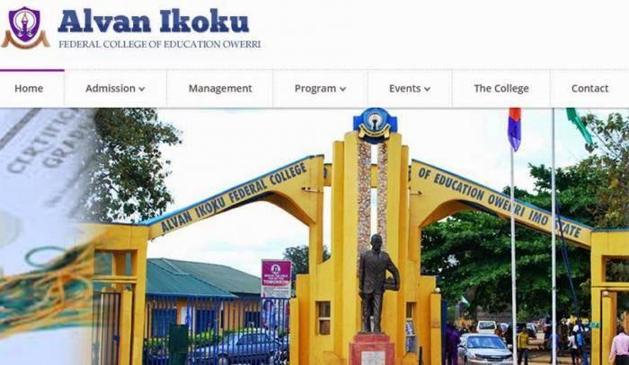 Alvan Ikoku COE Degree Admission List, 2019/2020 Out