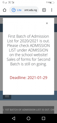 DESOMATECH first batch OND admission list for 2020/2021 academic session