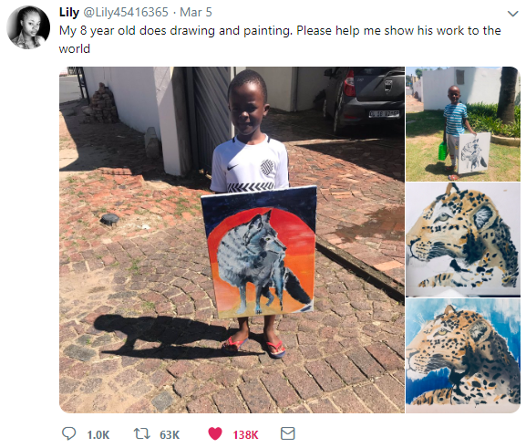 Talented 8 Year Old's Paintings Go Viral