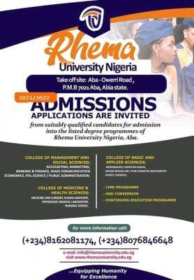 Rhema University Post-UTME 2021: Eligibility and Registration Details