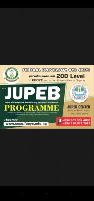 FUOYE JUPEB admission form for 2020/2021 session