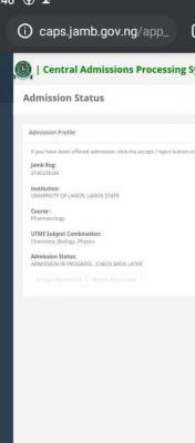 UNILAG admission list, 2020/2021 out on JAMB CAPS
