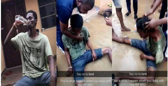 FUNAAB Student Reportedly Hospitalized Following a ₦5,000 Bet to Finish a Bottle of Gin