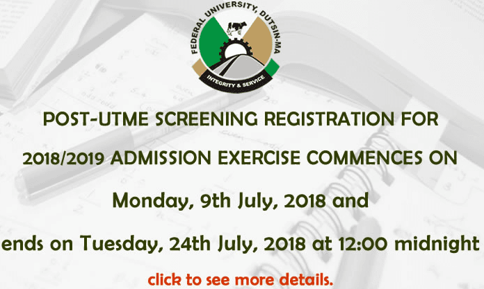 FUDutsinma Post-UTME 2018: Cut-off mark, Eligibility And Registration Details