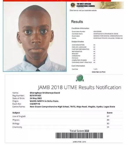 15-year-old Boy Who Cleared WAEC, Scored 332 In Jamb Denied Admission