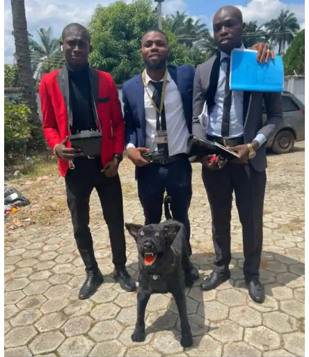 AAUA students build a robotic dog for their final year project