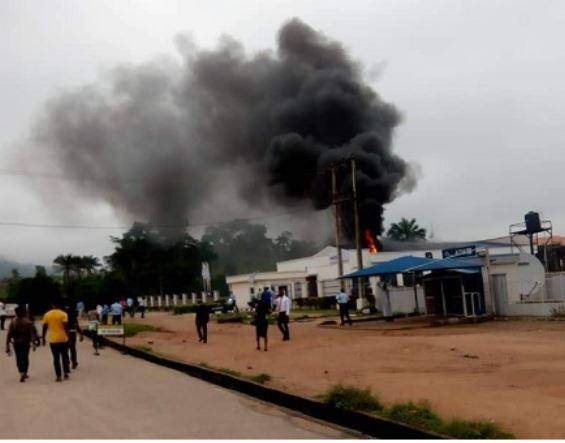 Fire Destroys Bank on AAUA Campus, ATM and Offices Burnt Down