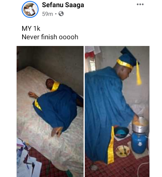 TASU students cook, sleep, in their matriculation gowns to exhaust the money spent in renting it