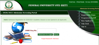 FUOYE Post-UTME Results for 2020/2021 session