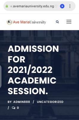 Ave Maria University Post-UTME/DE 2021: Eligibility and Registration Details