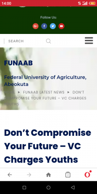 Do not compromise your future, FUNAAB VC warns youth