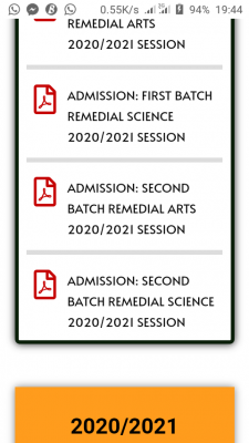 BOSU 2nd Batch Remedial Admission List for 2020/2021 session