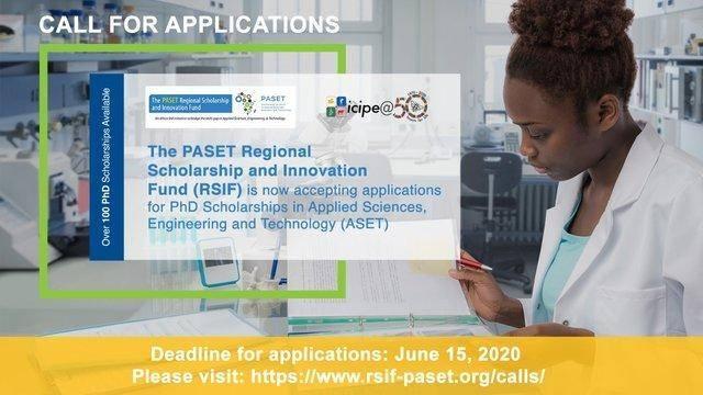 2020 PASET RSIF Scholarships For Sub-Saharan African Students