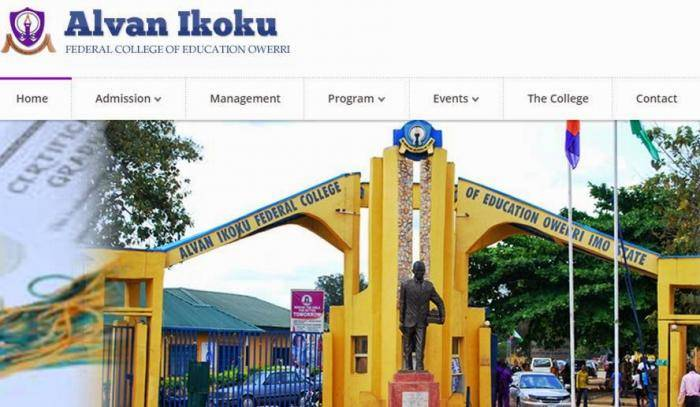 Alvan Ikoku COE Degree Admission List, 2018/2019 Out