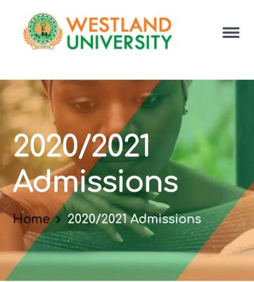 Westland University Post-UTME 2020: Cut-off Mark, Eligibility and Registration details