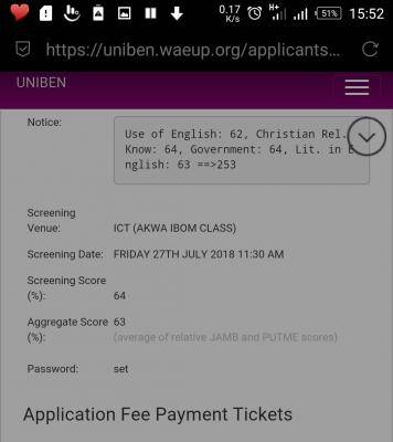 UNIBEN Post-UTME Screening Result, 2018/2019 Out
