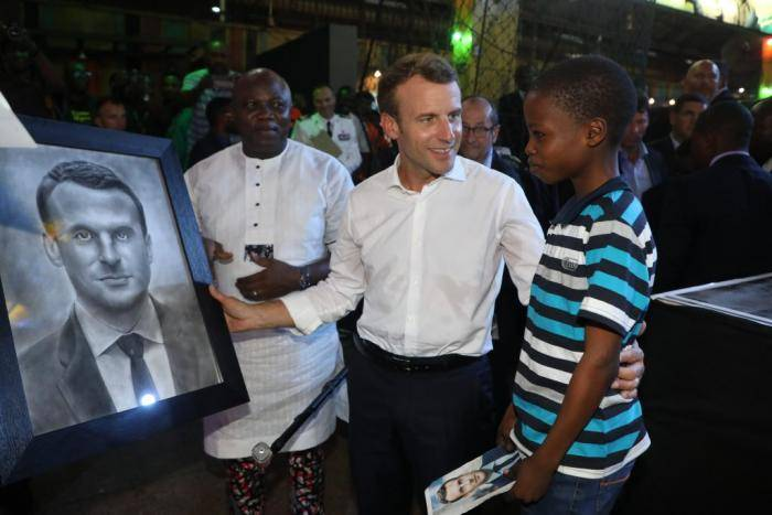 Gov. Ambode Hosts 11-year-old Boy Who Drew Macron's Portrait in 2-hours