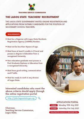 Lagos State Secondary School Teacher's Recruitment