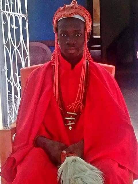 15-year-old Secondary School student Appointed king in Ondo State