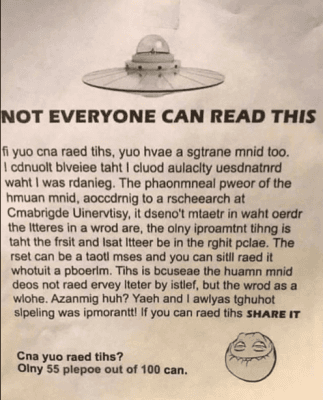 If You Can Easily Read This, You Have A Developed Mind