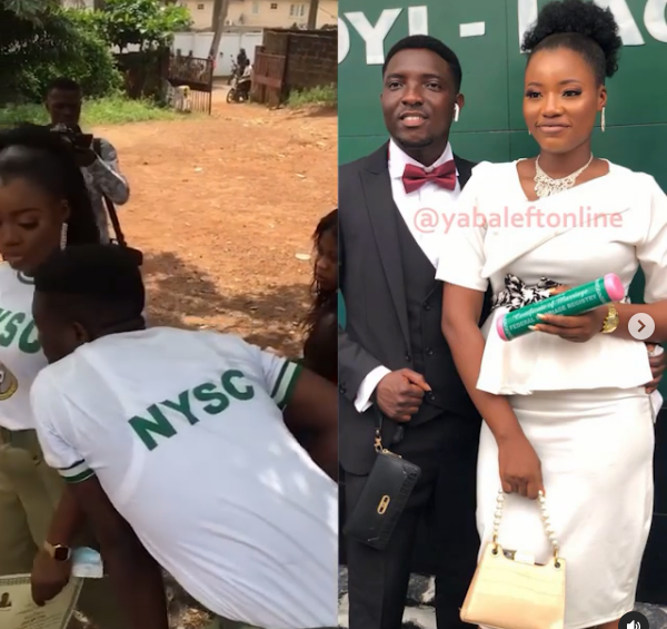 Corps members whose unique proposal video went viral, tie the knot