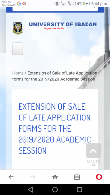 University Of Ibadan extends sales of postgraduate forms for 2019/2020 session