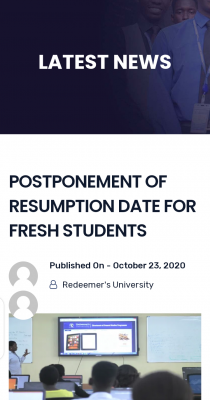 RUN postpones resumption for fresh students