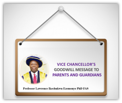 IUO Vice Chancellors good will message to parents and students ahead of resumption