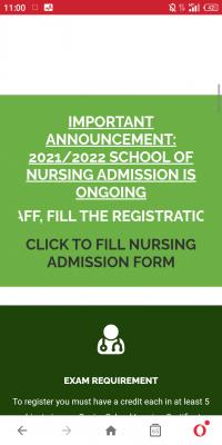 UNTH School of nursing admission form for 2020/2021 session