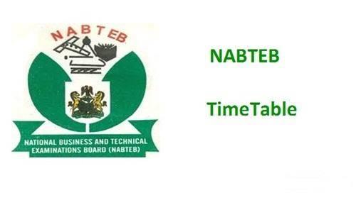 NABTEB GCE (Nov/Dec) Timetable For 2019/2020