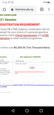 FUTMINNA extends post -UTME registration deadline for 2020/2021 session
