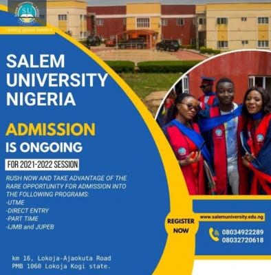 Salem University Post-UTME 2021: Eligibility and Registration Details