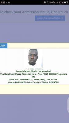 Yobe State University admission list, 2020/2021 out on JAMB CAPS