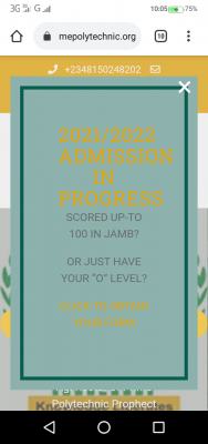 Prime Polytechnic admission for 2021/2022 session
