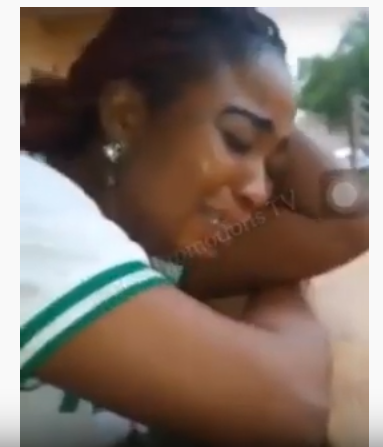 Corps Member Cries, as She Begs to Continue her NYSC (Video)